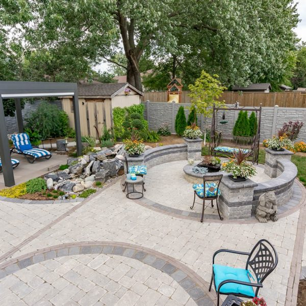 Backyard Getaway with Custom Fire Pit