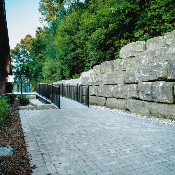 Stone Retaning Wall